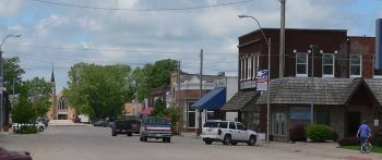 Downtown Atkinson Nebraska, as it looks from near where my house was.